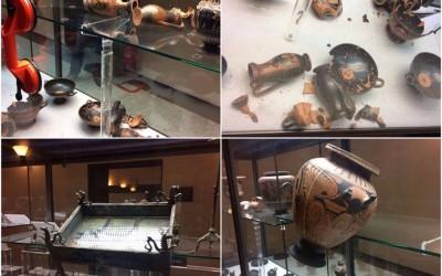 მიწისძვრამ კლაუდიო ფაინას სასახლისა და მუზეუმის არტეფაქტები დააზიანა