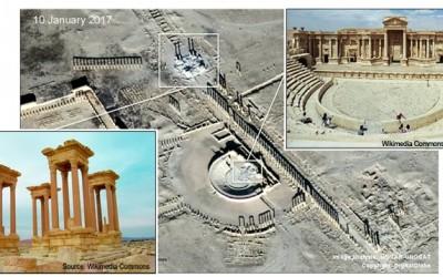 """""""ისლამურმა სახელმწიფომ"""" პალმირას ისტორიული რომაული ამფითეატრი გაანადგურა"""