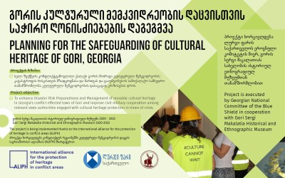 """""""Planning for the Safeguarding of Cultural Heritage of Gori, Georgia"""" – Remote working mode"""